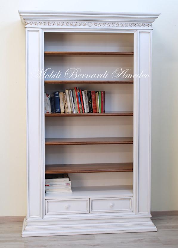 Librerie in legno 12 librerie for Librerie bianche