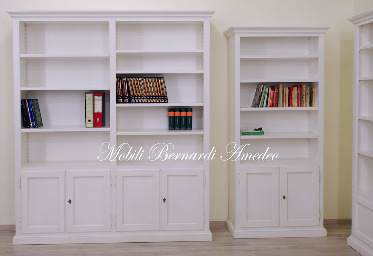 Libreria bianca in legno | Librerie