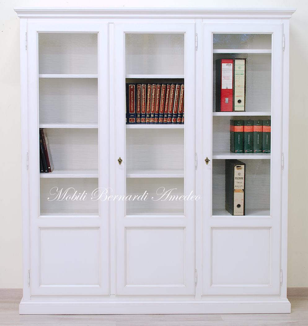 Libreria Chiusa Con Ante In Vetro.Librerie In Legno Massello 14 Librerie