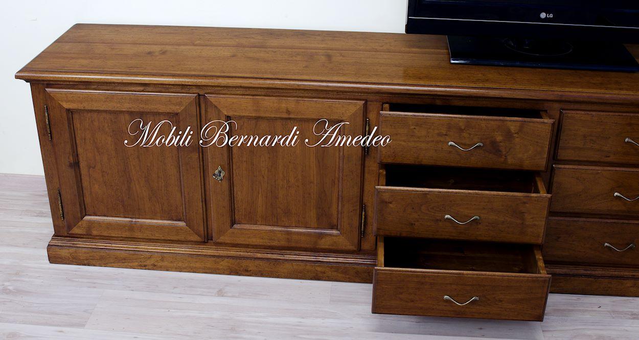Mobili tv in legno massello 5 porta tv - Mobile ad angolo per salotto ...