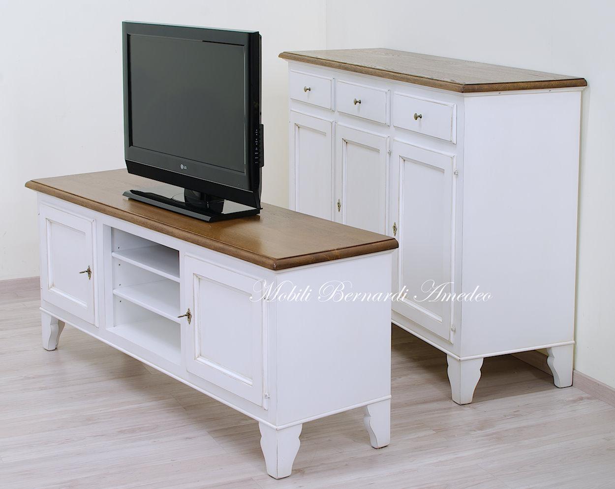 Mobili tv country in legno porta tv - Mobili per tv in legno ...