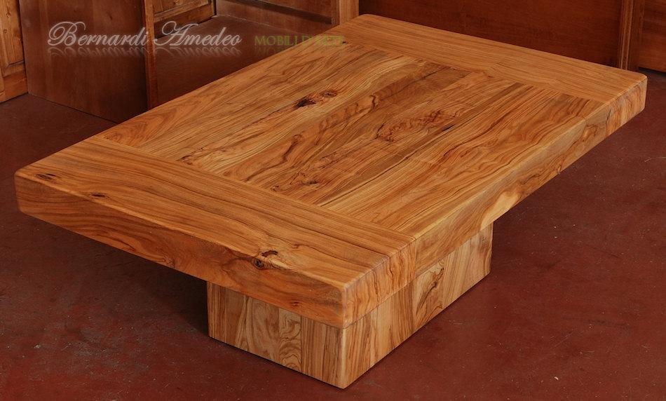 Tavoli e tavolini in ulivo massello tavoli for Tavolino salotto legno