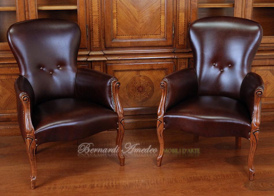 Poltrone 2 sedie poltroncine divanetti for Poltroncine in pelle