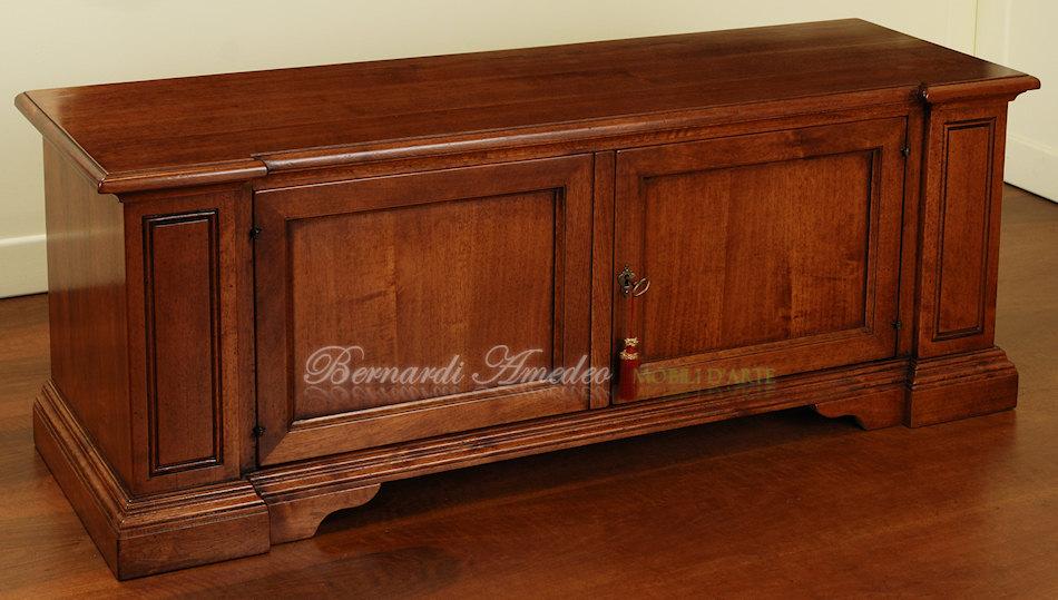 Porta tv noce massello porta tv for Cassapanche legno