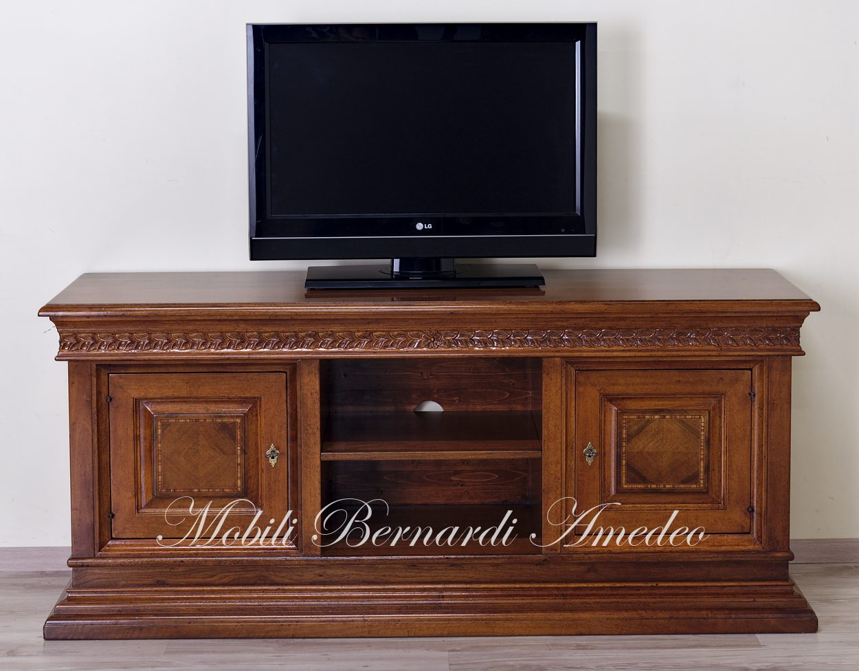 Credenza Con Porta Tv.Porta Tv In Noce Massello 2 Porta Tv