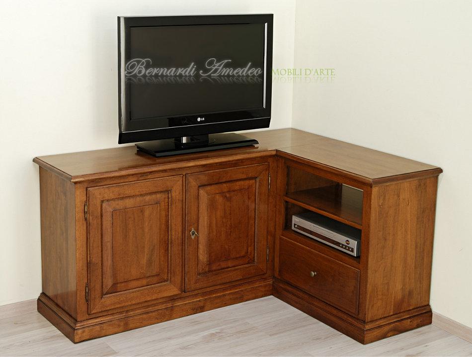 Armadio Con Vano Tv Ikea.Porta Tv In Noce Massello 2 Porta Tv