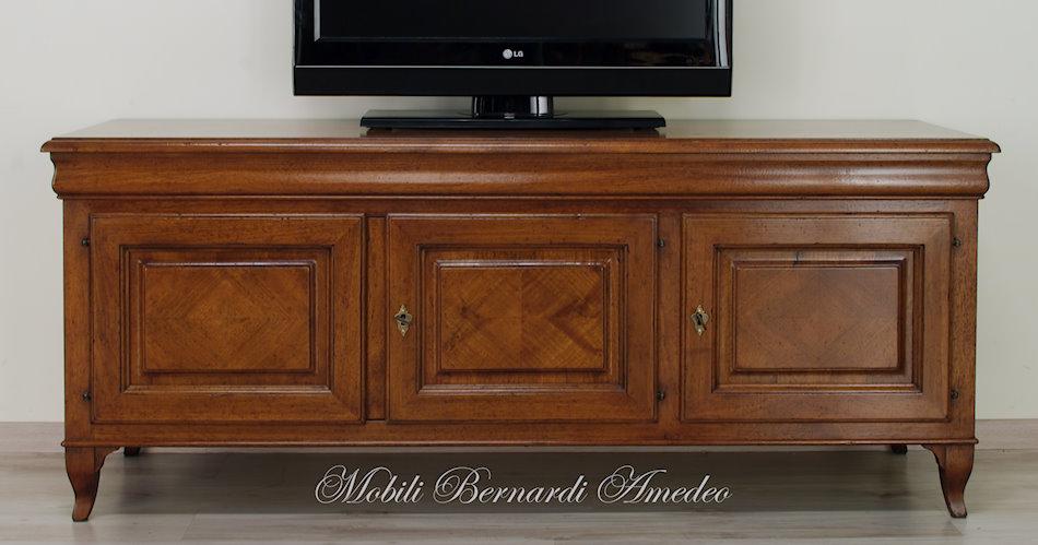 Credenza Per Tv : Porta tv noce massello