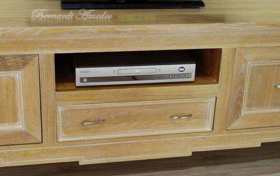 Mobili Tv in noce e rovere massello 4 | Porta TV