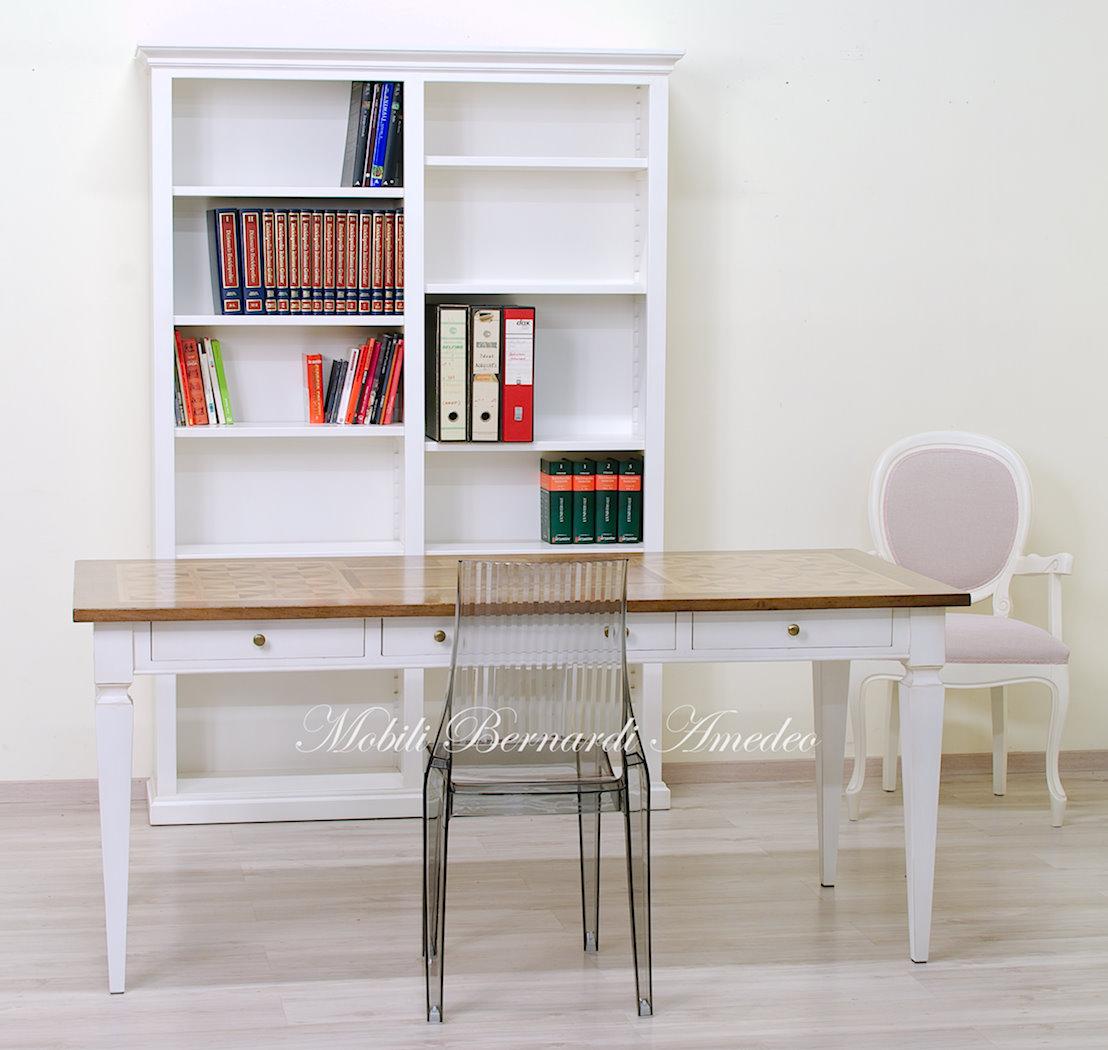 Tavoli scrittoi in legno massello tavoli - Tavolo bianco anticato ...