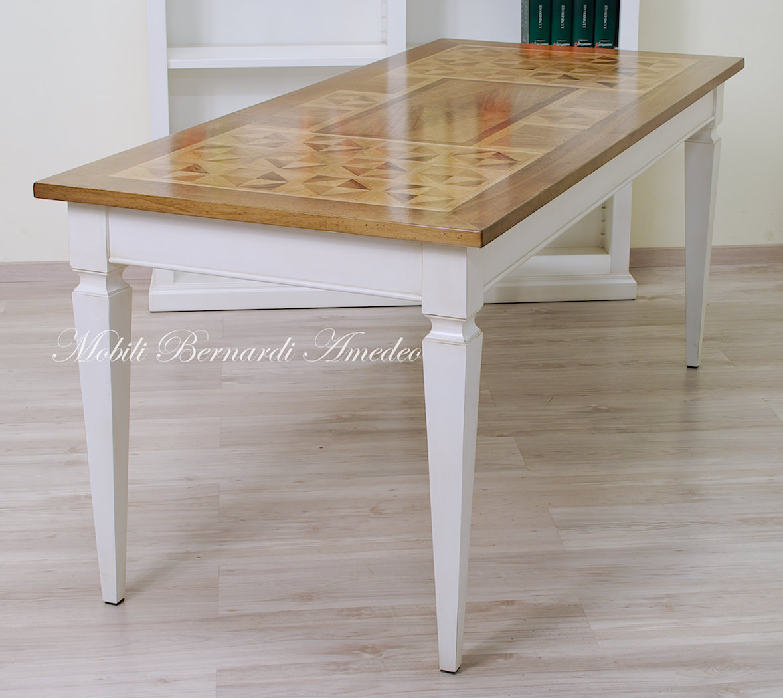 Tavoli scrittoi in legno massello tavoli - Tavolo in legno bianco ...