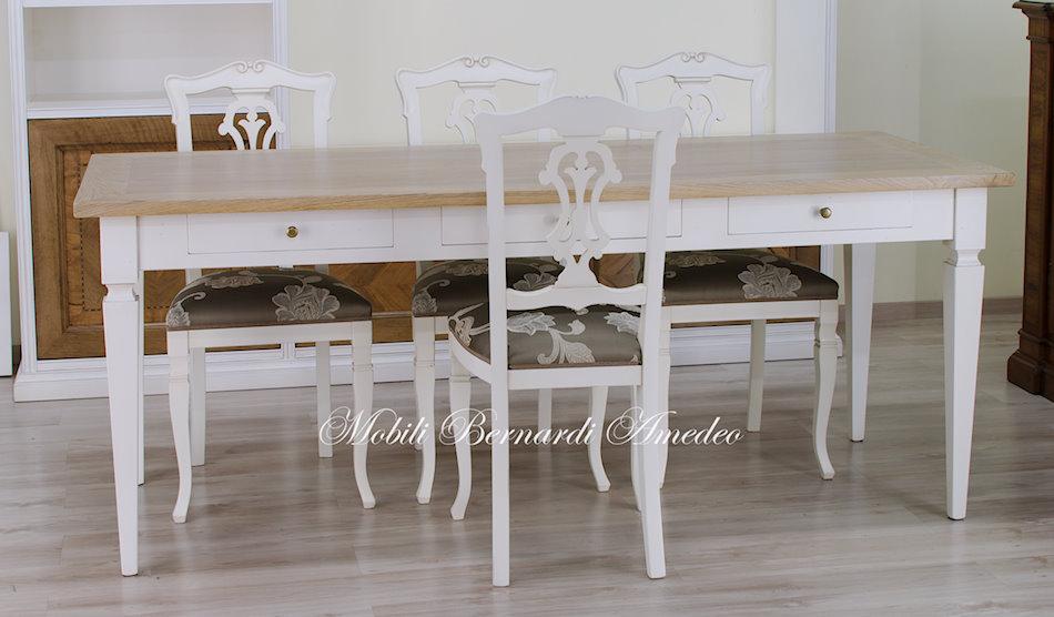 Tavoli scrittoi in legno massello tavoli for Tavolo rovere bianco