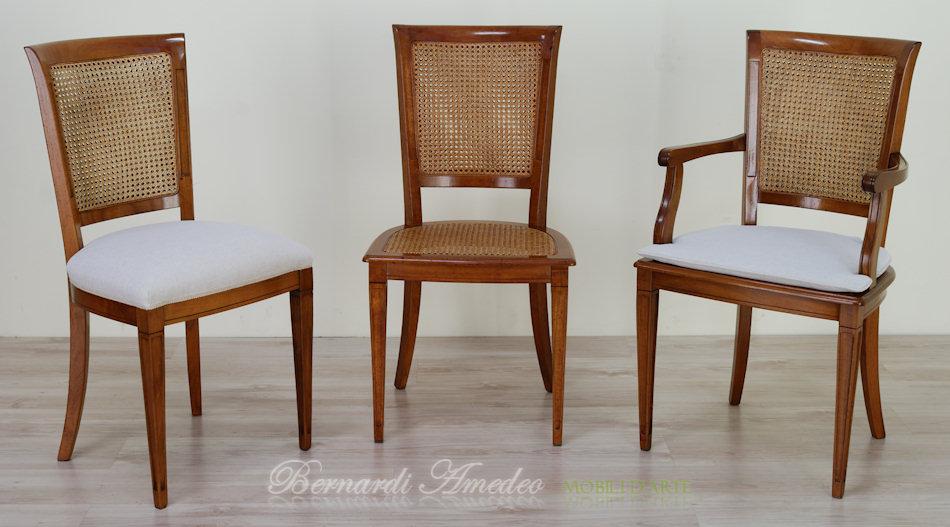 Sedie e poltroncine in noce sedie poltroncine divanetti for Feltrini antirumore per sedie