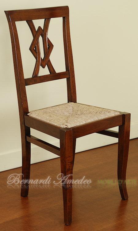 Sedie in noce 9 sedie poltroncine divanetti - Sedia impagliata ...