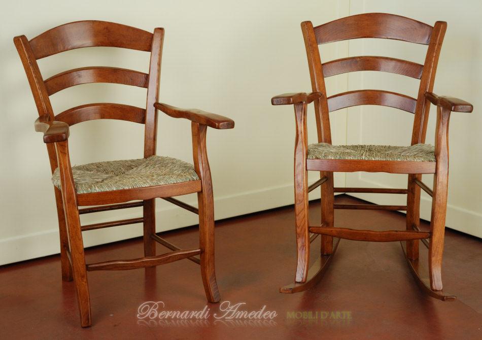 Sedie In Legno Con Braccioli : Sedie capotavola e dondoli campagnoli fatti a mano sedie