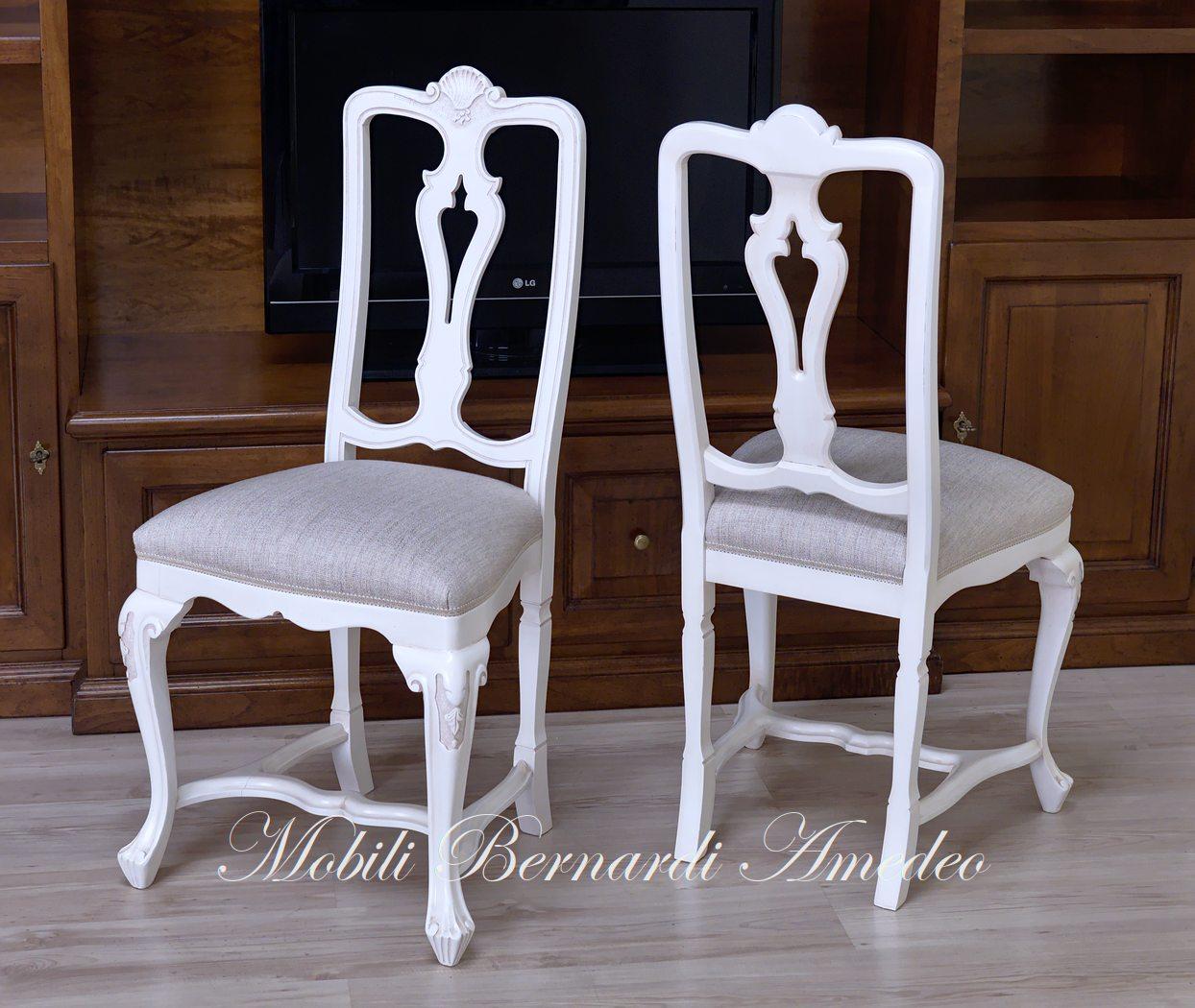 Sedie In Legno Laccate Bianco.Sedie E Poltroncine Vii Sedie Poltroncine Divanetti