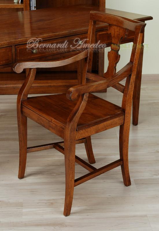 Sedie in stile 11 sedie poltroncine divanetti for Sedia antica con braccioli