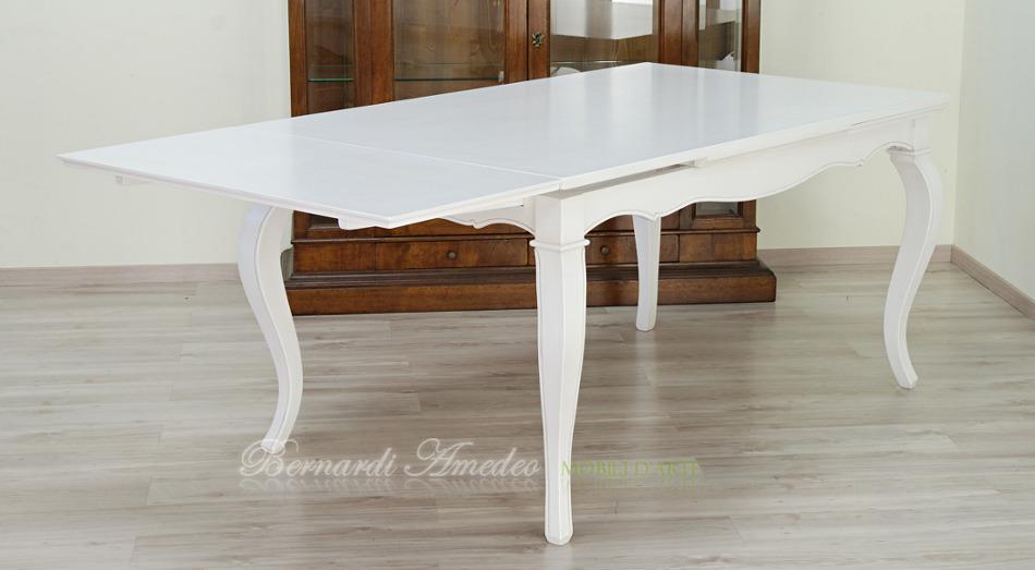 Tavolo Quadrato Bianco Allungabile.Tavoli Allungabili Laccati Colorati Tavoli