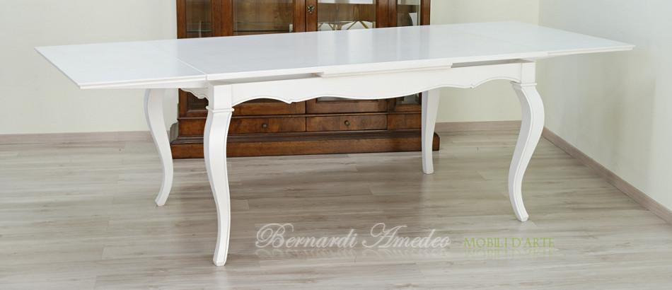 Tavoli allungabili laccati colorati tavoli - Tavolo rotondo bianco allungabile ...