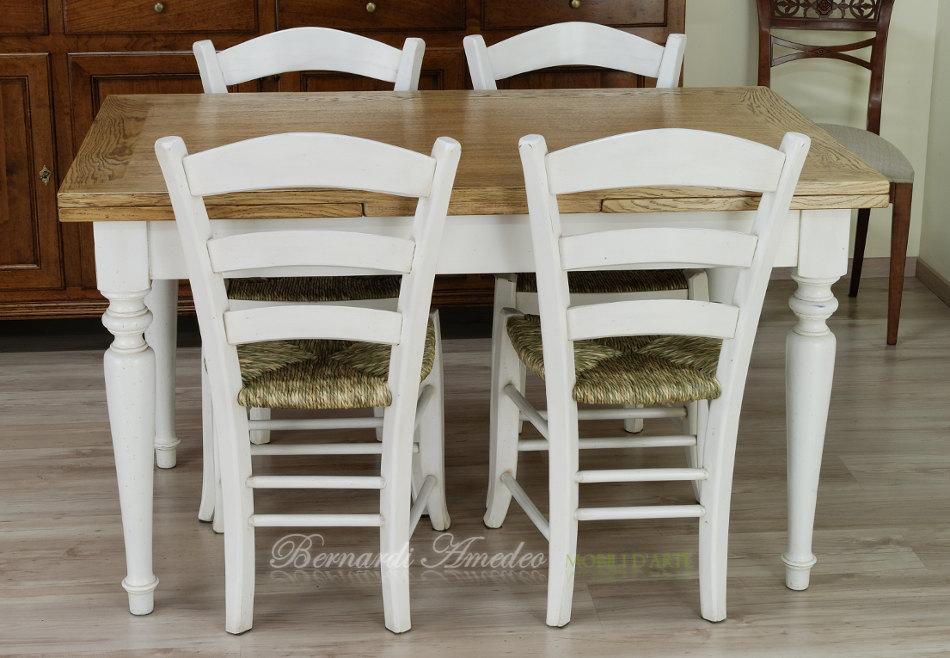 Tavoli country allungabili in abete tavoli - Tavoli bianchi da cucina ...
