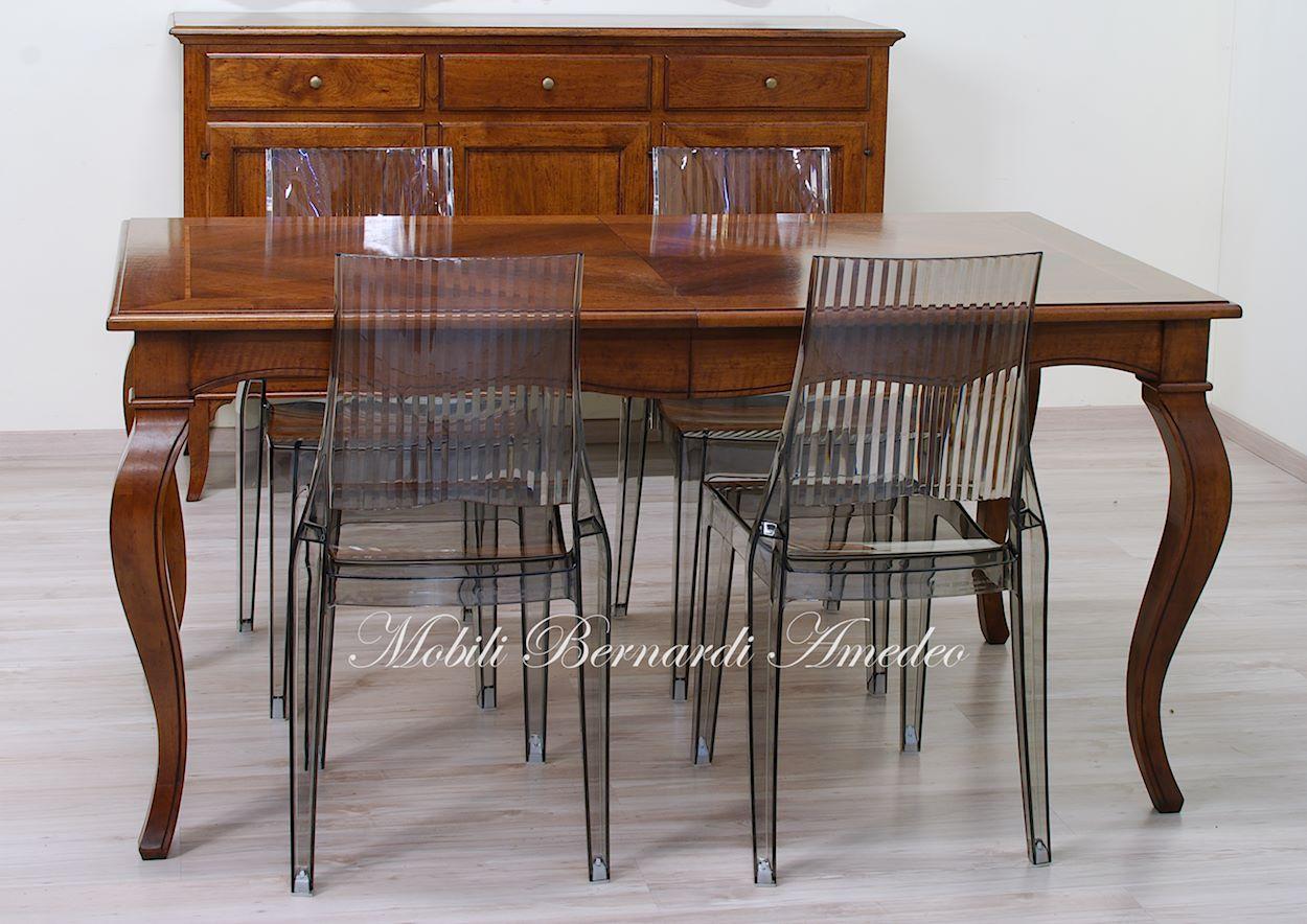 Tavoli con allunghe 21 tavoli - Tavolo consolle allungabile stile classico ...