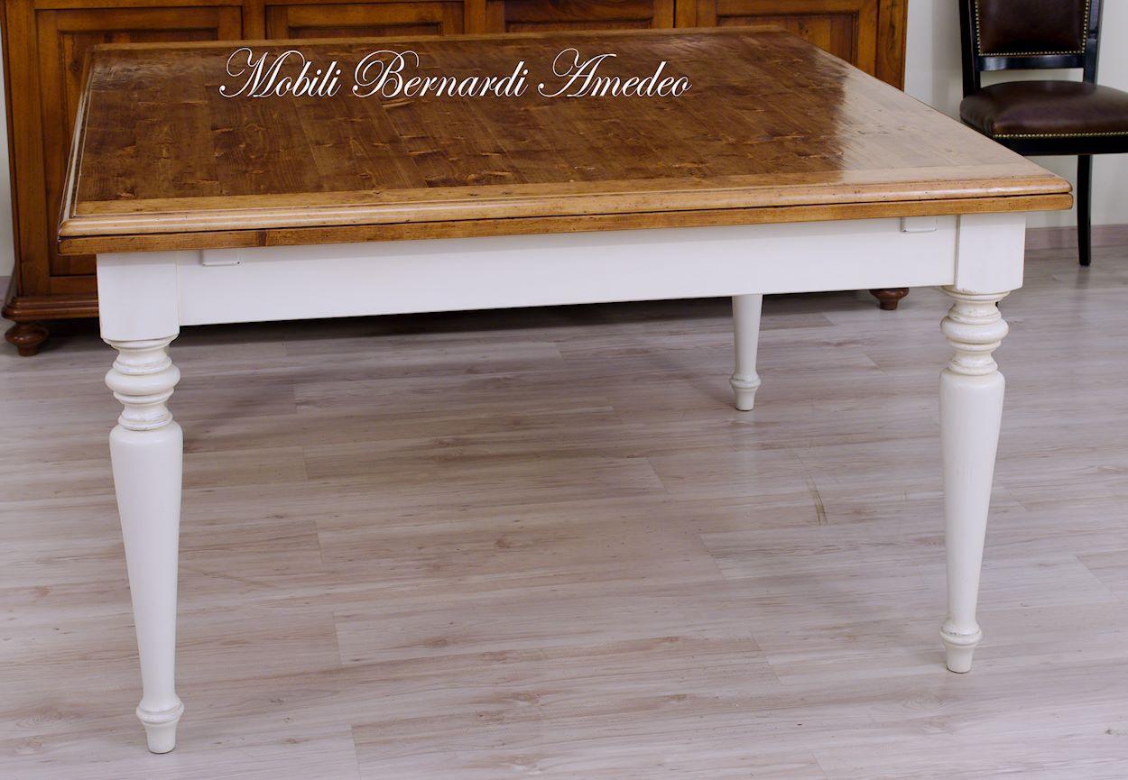 Tavoli allungabili in abete massello tavoli for Tavolo quadrato
