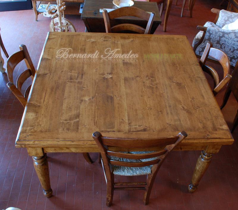 Tavoli allungabili in abete massello tavoli - Tavoli da pranzo antichi ...