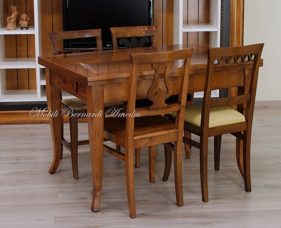 Tavoli allungabili piccoli in stile tavoli for Tavolo 120x80