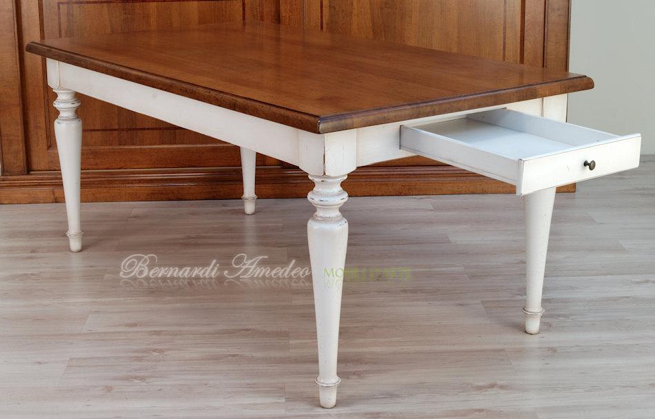 Tavolo da cucina in rovere massello e abete tavoli for Gambe per mobili ikea