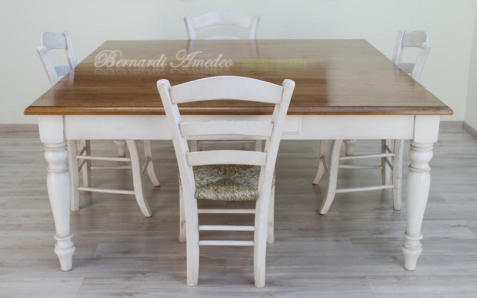 Tavolo da cucina in rovere massello e abete tavoli - Tavoli quadrati allungabili ikea ...