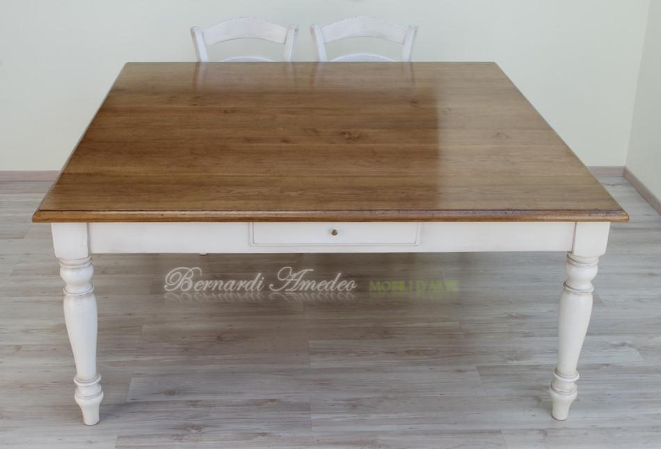 Tavolo da cucina in rovere massello e abete tavoli - Tavolo grande legno ...