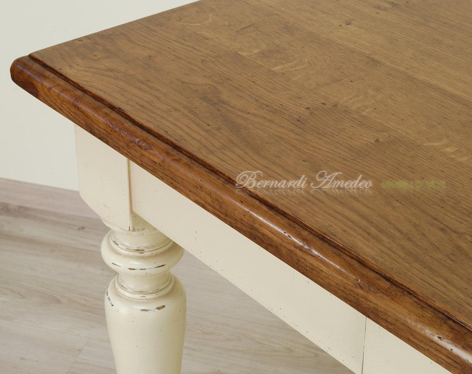 Tavoli country da cucina in legno massello tavoli for Piani del giroletto in stile missione