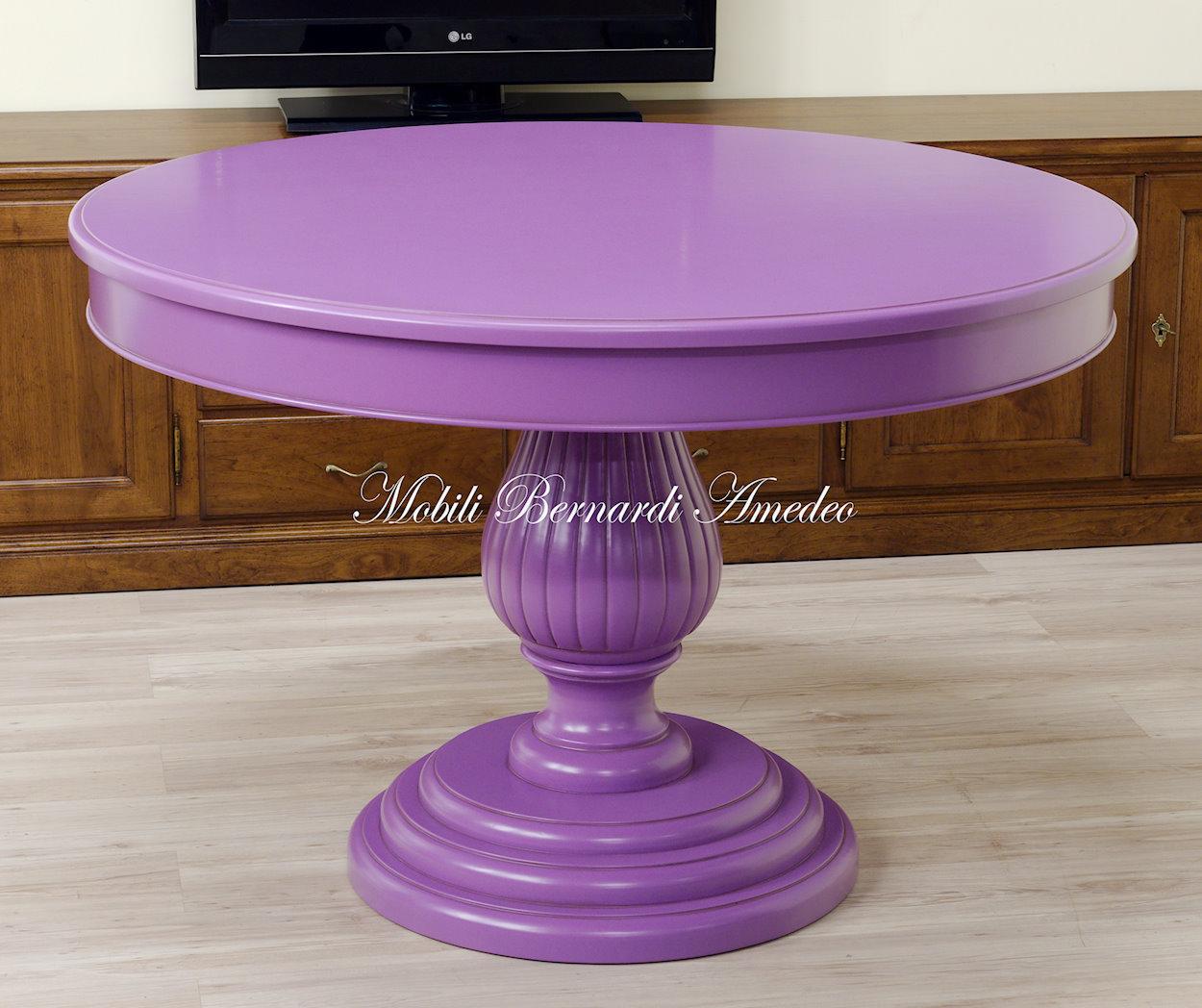 Tavolo Con Gamba Centrale Allungabile tavoli ovali e rotondi non allungabili 2 | tavoli