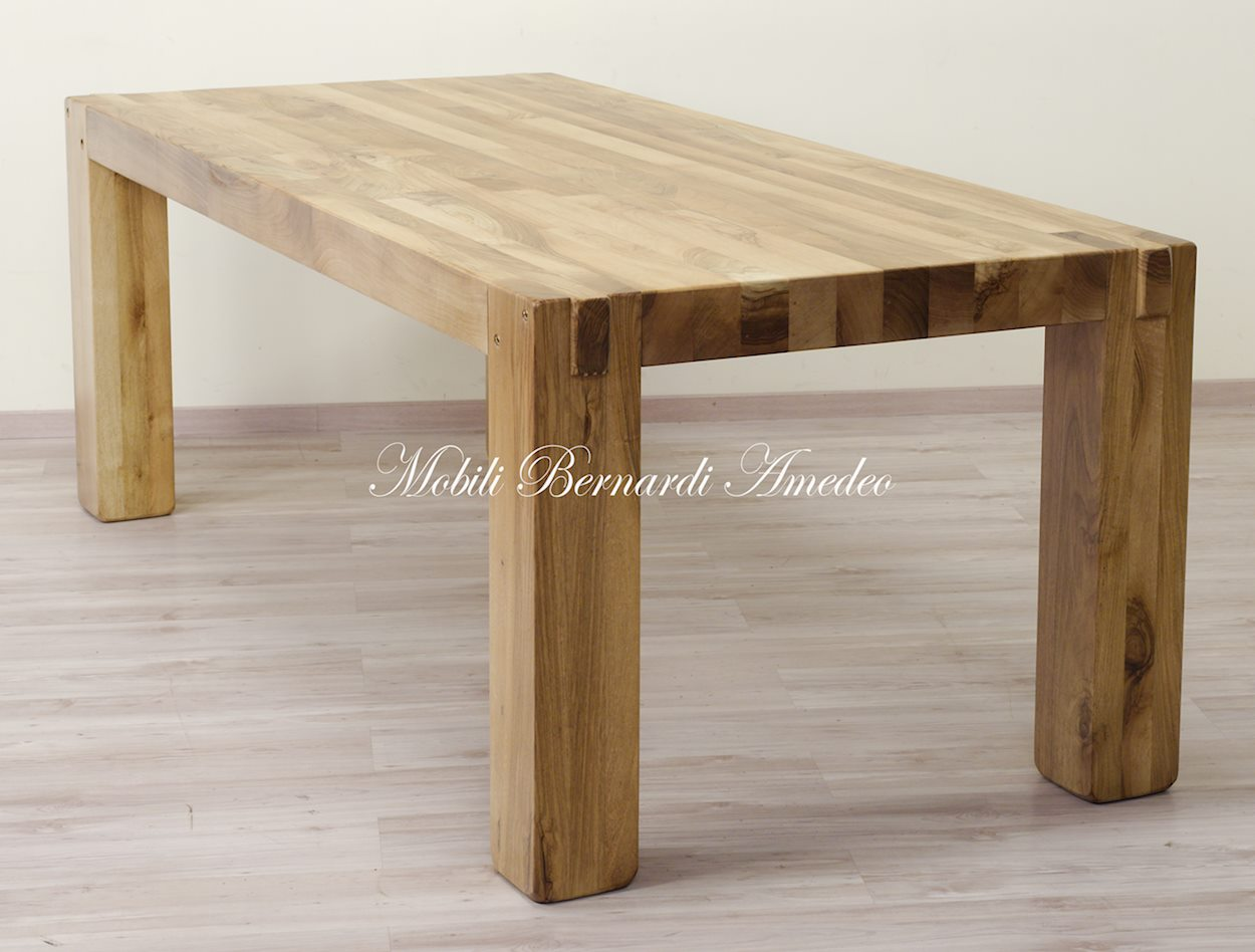Tavolo moderno in noce massello tavoli - Tavolo noce massello ...