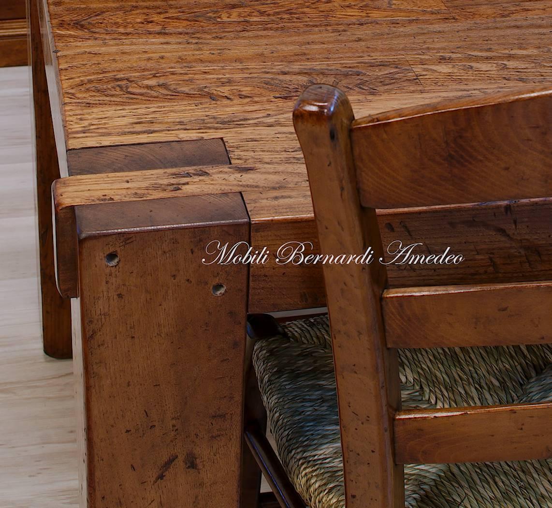 Costruire tavolo legno rustico idee per la casa - Costruire tavolo in legno ...