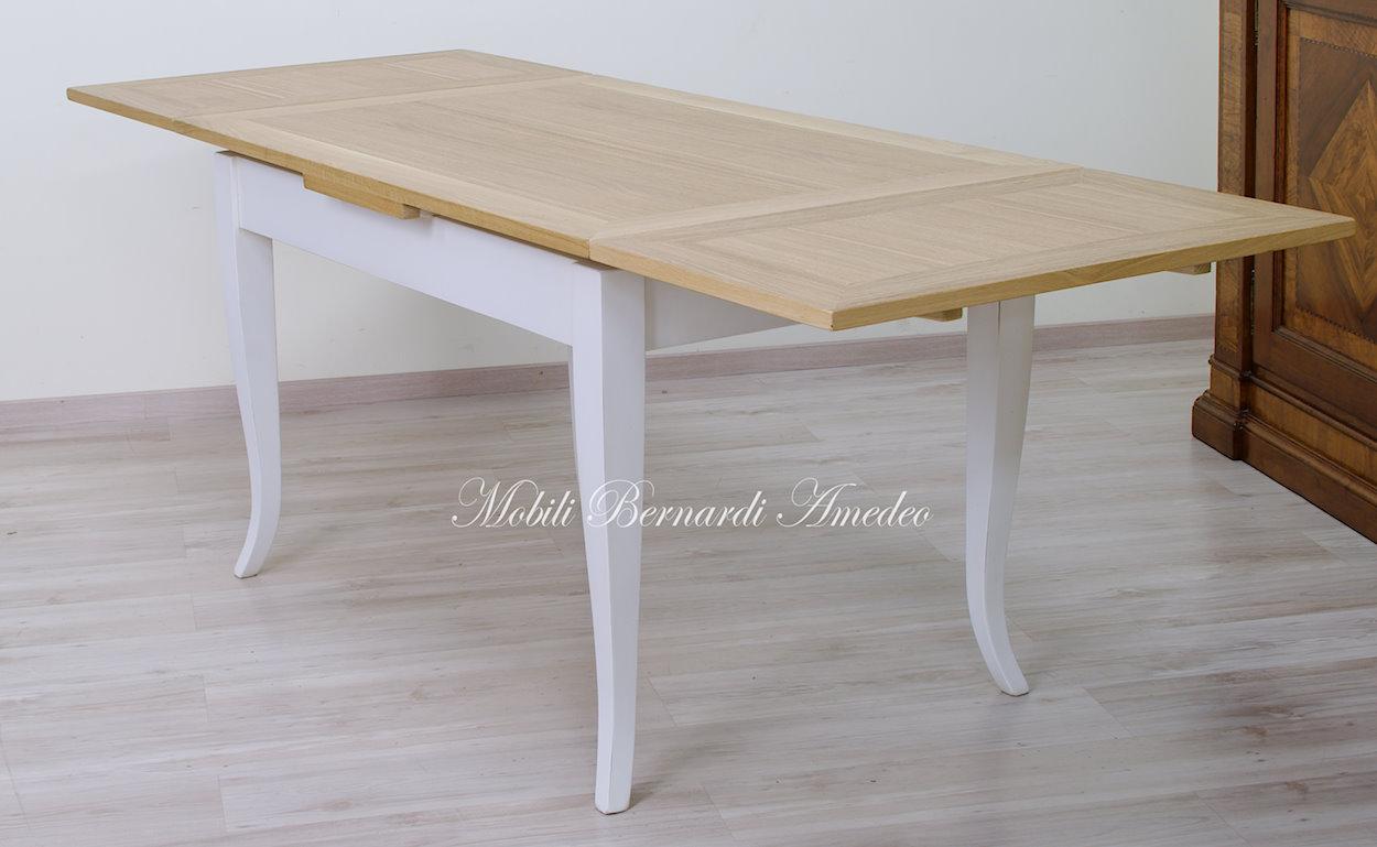 Tavoli allungabili piccoli in stile tavoli for Tavolo rovere bianco