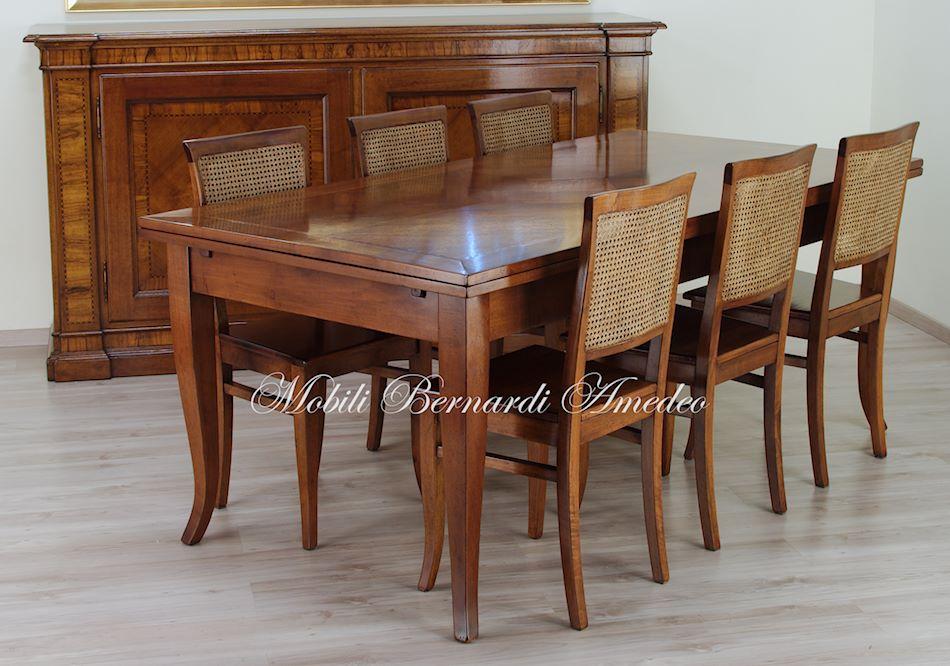 Tavoli in noce allungabili 5 tavoli for Cerco tavolo da cucina allungabile