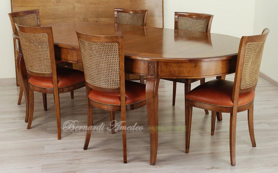 Tavoli rotondi e ovali allungabili 5 tavoli for Tavolo da pranzo con sedie