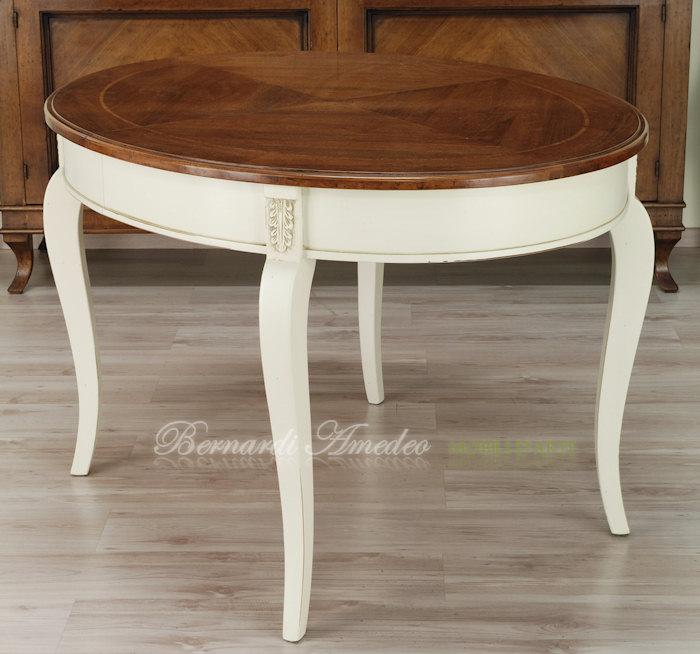 Tavoli ovali e rotondi allungabili tavoli - Tavolo bianco anticato ...