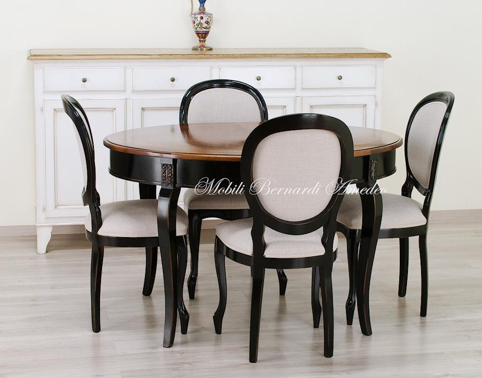 Tavoli rotondi e ovali allungabili 3 tavoli for Tavolo nero