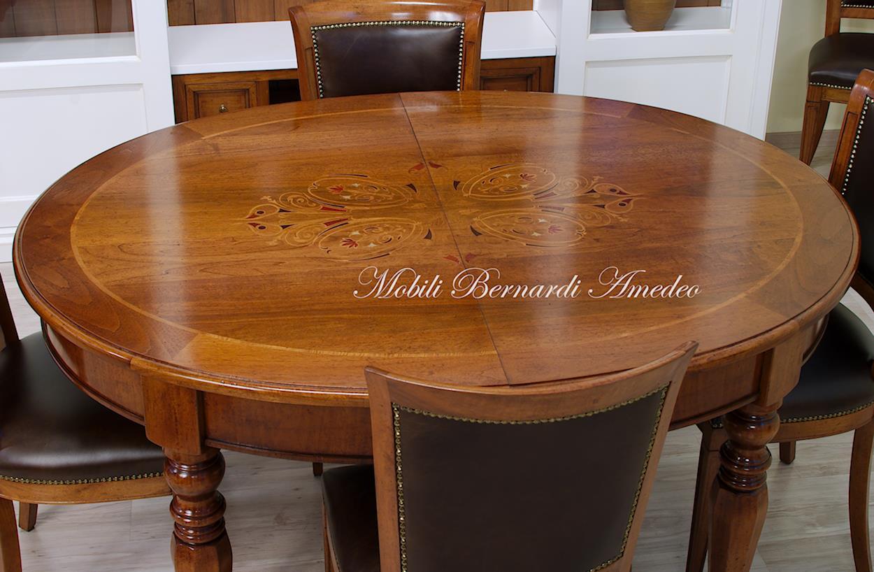 Tavoli tondi allungabili tavolo rotondo allungabile con - Tavolo ovale cucina ...