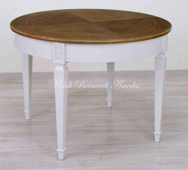 Tavoli rotondi allungabili 10 tavoli - Tavolo rotondo allungabile bianco ...