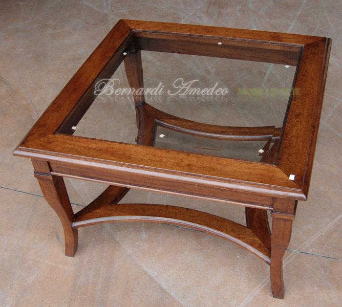 Tavolini da salotto 2 tavolini for Tavolini in legno e vetro