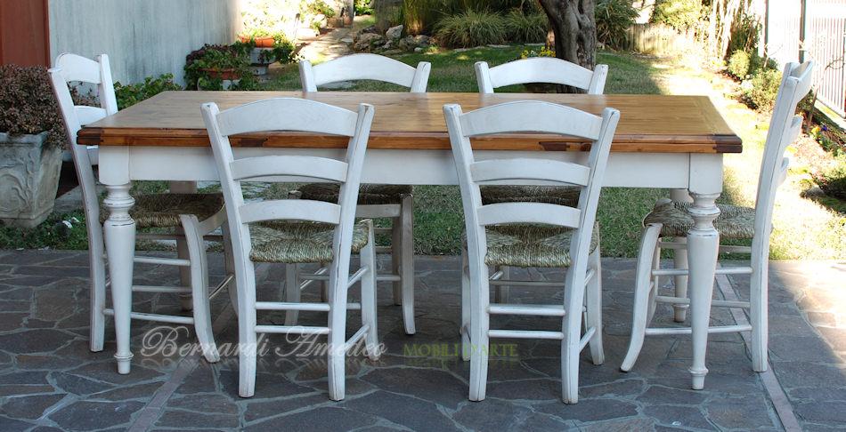 Tavoli country allungabili in abete tavoli - Tavoli da cucina in legno massello ...