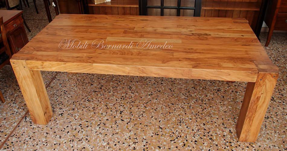 tavoli e tavolini in ulivo massello | tavoli - Tavolo Legno Massello Allungabile Usato