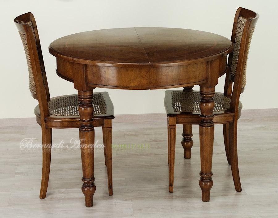 Tavoli ovali e rotondi allungabili 2 tavoli for Tavolo rotondo diametro 90