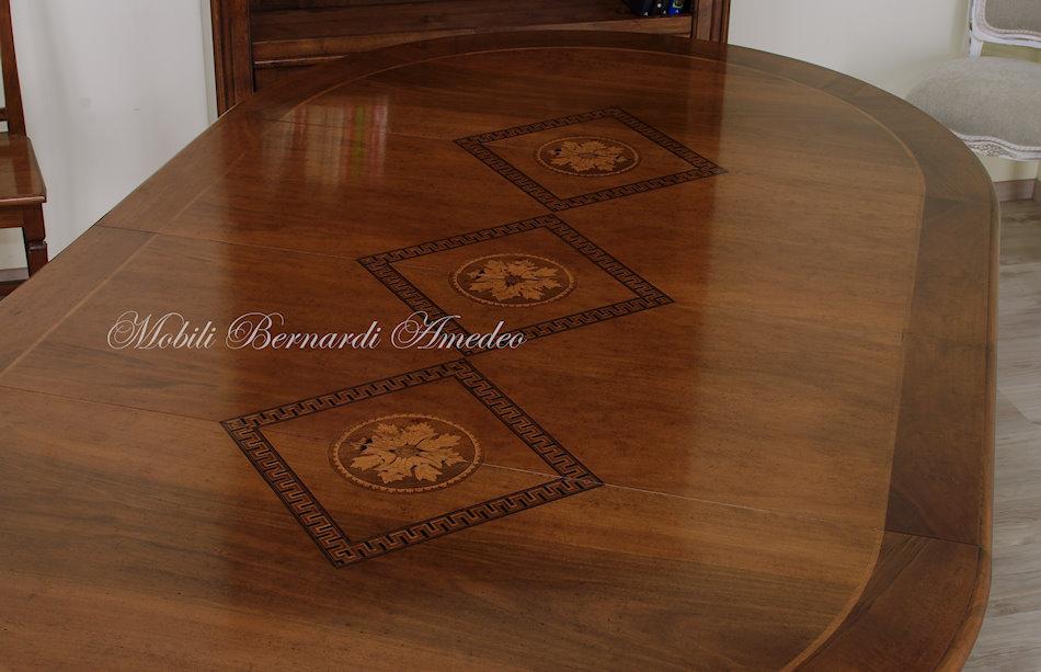 ... Tavolo Rotondo Allungabile In Stile Classico ...