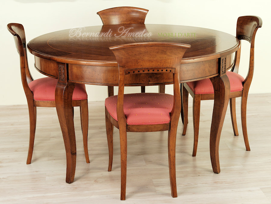 Tavoli rotondi e ovali allungabili 3 tavoli - Tavolo rotondo allungabile bianco ...