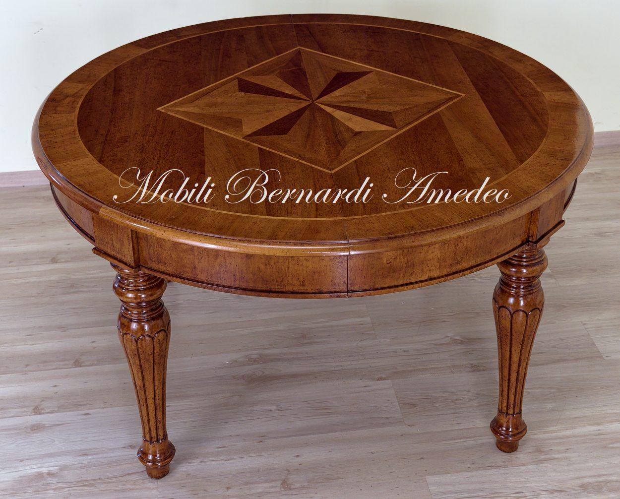 Tavoli rotondi e ovali allungabili 5 tavoli - Tavolo rotondo allungabile legno ...