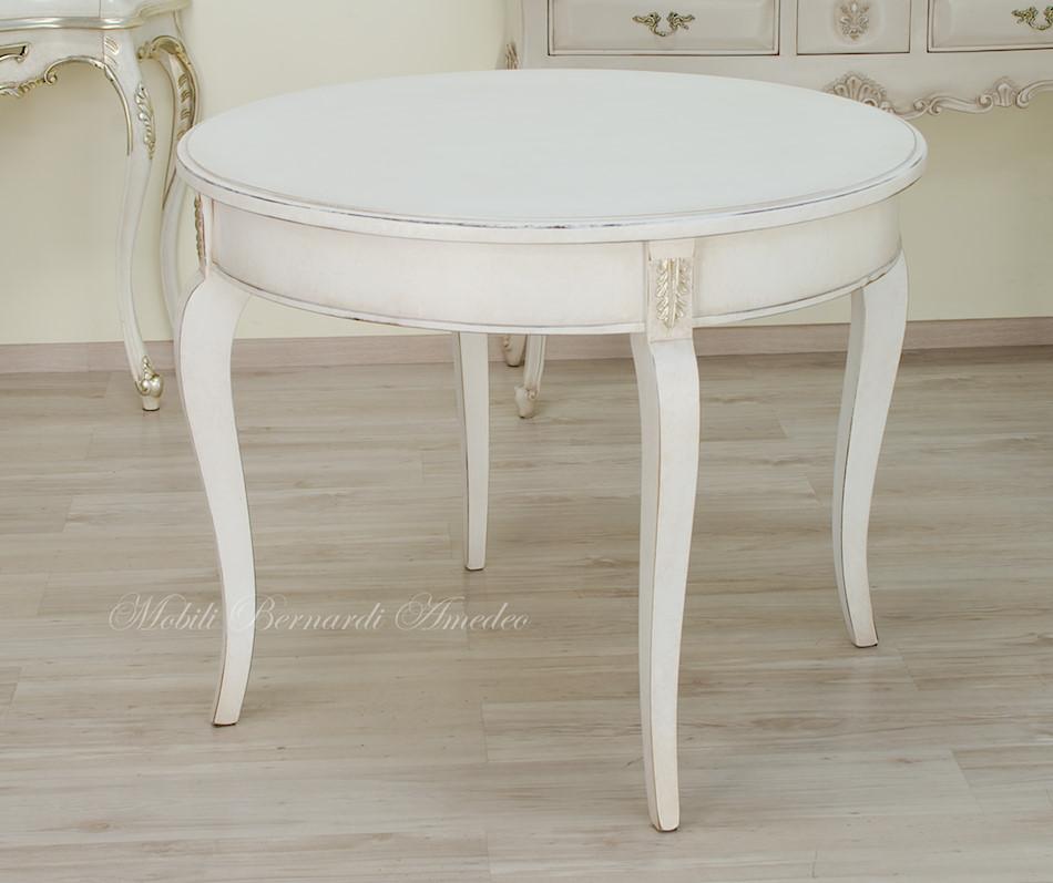Tavoli ovali e rotondi non allungabili tavoli - Mobili legno bianco anticato ...