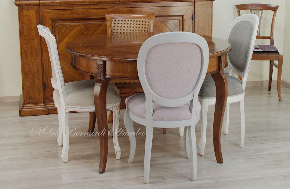 Tavoli Rotondi In Stile.Tavolo Rotondo Allungabile 4 Tavoli